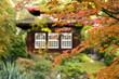 Leinwandbild Motiv japanisches Teehaus