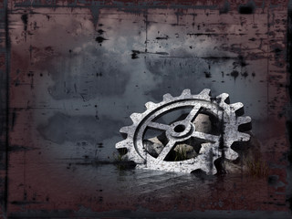 grunge gear wheel