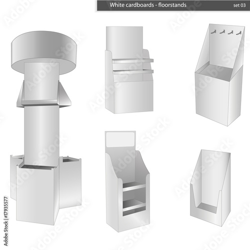 Blank cardboard stands illustration vector