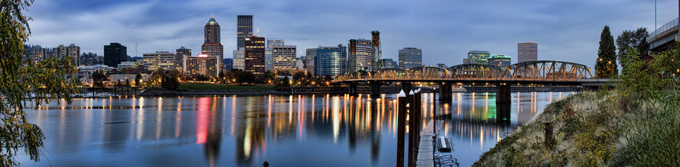 Panorama of Portland, Oregon, USA.