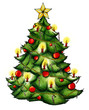 Weihnachtsbaum, Christbaum, Weihnachten, Heiligabend