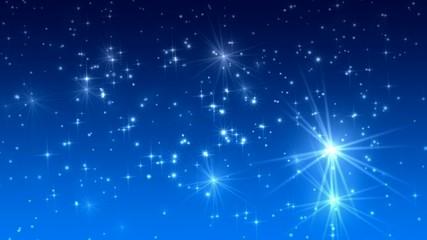 Weihnachten Sternenhimmel blau 1080