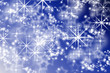 abstract bright flake shapes on a colorful blue background. chri