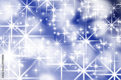 abstract bright flake shapes on a colorful gradient background