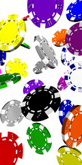 Bunte Pokerchips