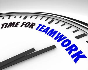 Time for Teamwork - Clock