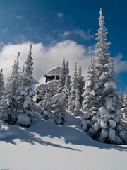 Winter fire lookout