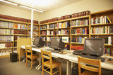 Computer stations in library