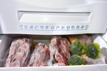 detalle del congelador