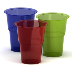 disposable cups 3d illustration
