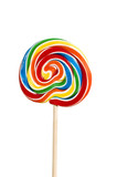 lollipop on white background