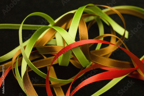 Close up of assorted ribbons