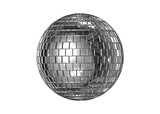 CGI disco ball isolated poster