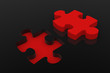 Koalition Puzzle Schwarz Rot