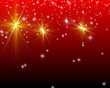magic christmas stars - background red