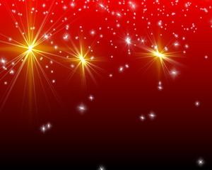 magic christmas stars - background red