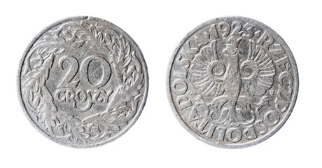obsolete polish coin