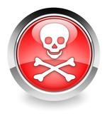 Virus/toxic icon poster