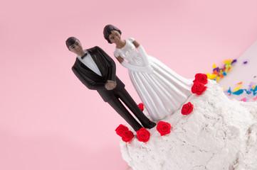 Dark wedding couple