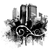 Black grunge city - 17972773