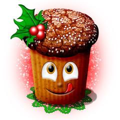 Panettone Natale-Christmas Cartoon Cake-Gâteau Noël