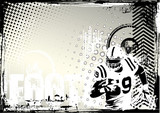 american football grungy background