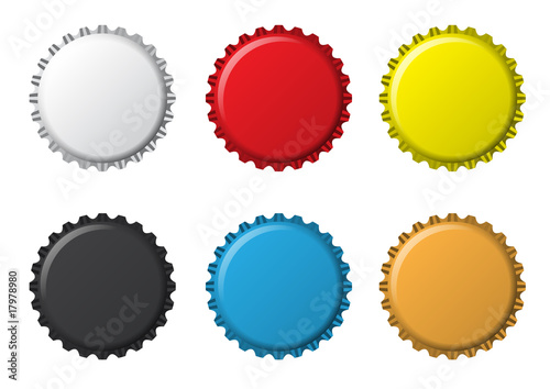 isolated_colors_bottlecaps - 17978980