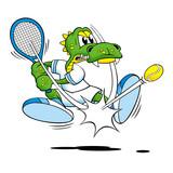 Tennis Croc poster