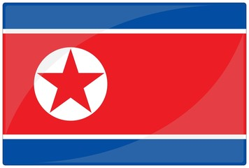 drapeau glassy corée du nord north korea flag