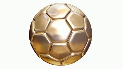 Ballon de football doré.