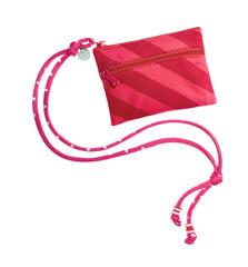 Pink striped swim wallet