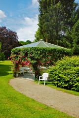 Arbour in rose's on Baden-Baden park