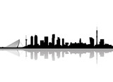 Fototapety rotterdam city skyline vector