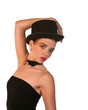Attractive Female in Top Hat Pose