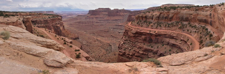panoramic view ar canyonland national park