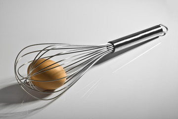 Wire Whisk with egg