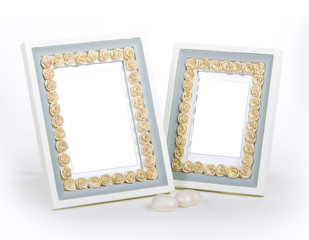 fancy photo frames decorated with artificial roses