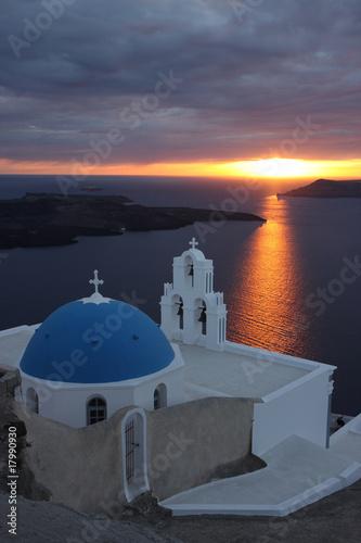 Sunset in Santorini island