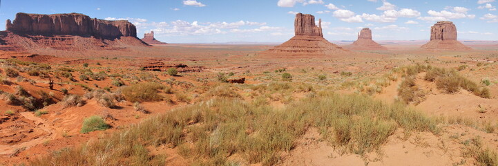 Colored Monument Valley during daytime