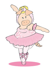 Classic dancer pig