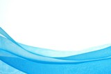 Fototapety Abstract blue chiffon with curve and wave pattern