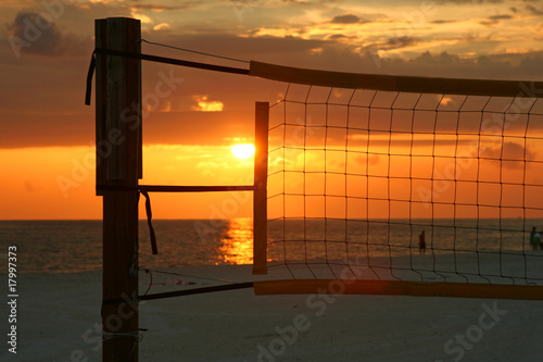Sunset in a net