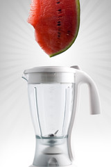 Blender with melon