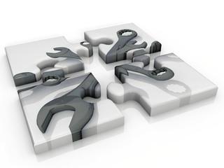 puzzle et clé