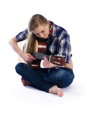 country-girl with guitar