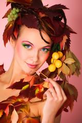 leaf hairstyle