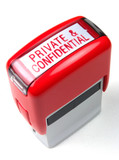private and confidential ink stamp stationary poster