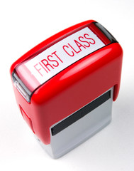 first class mail red ink stamper