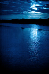 moonlight reflections across water