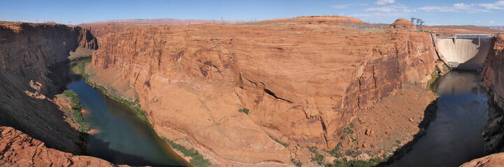 Glen Canyon Hydroelectric Dam on Colorado River